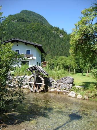 austrian: Alpine landscape in Austrian mountains Stock Photo