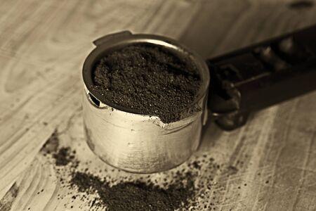 espresso machine: Detail of espresso machine tool Stock Photo
