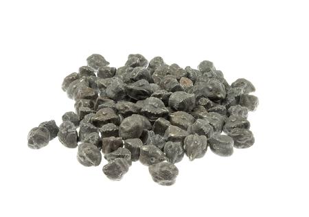 garbanzos: Black chickpeas (garbanzo) isolated on white background