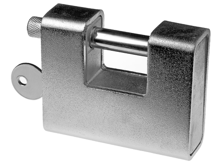 solid: Solid satin lock with hardened steel piston