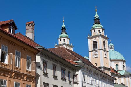 Ljubljana St. Nicholas cathedral steeples