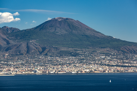 View of the Vesuvius mountain Stock Photo