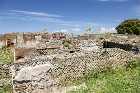 Pozzuoli, Naples, Italy. May 2018. Archaeological Park of Cuma one of the  oldest Greek and Roman settlements in Italy.