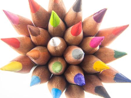 tip: slim crayons tip up arrangement