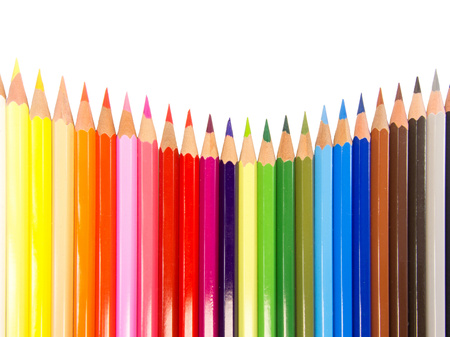 concave: slim crayons concave arrangement
