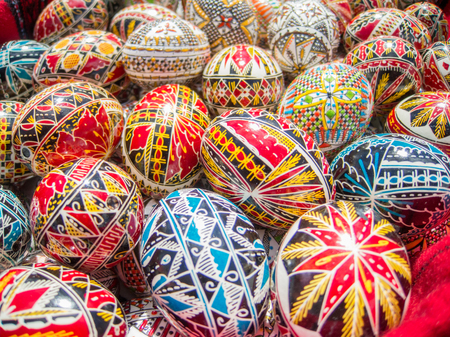 nicely: traditional romanian handcrafted nicely decorated easter eggs