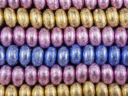 choco: multicolor choco eggs rows