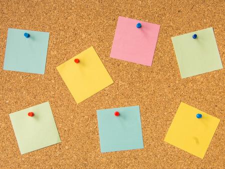 do: cork board seven pinned sticky note files