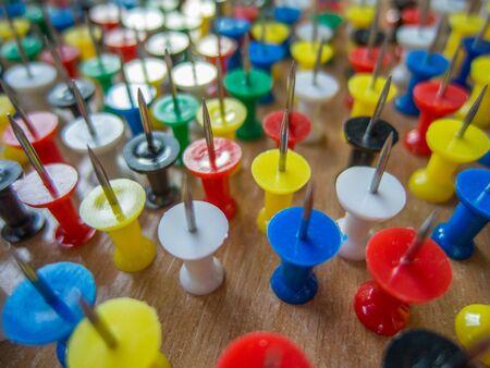 upside: pattern of upside sharp pins Stock Photo