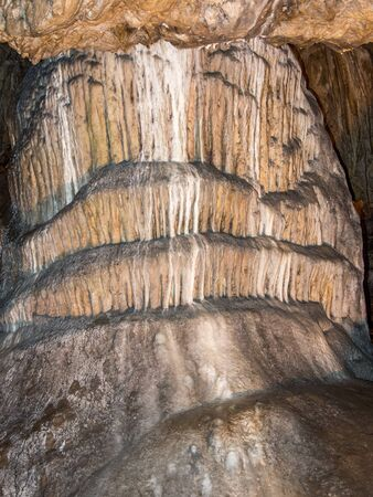 geological formation: geological formation dome shape in a cave