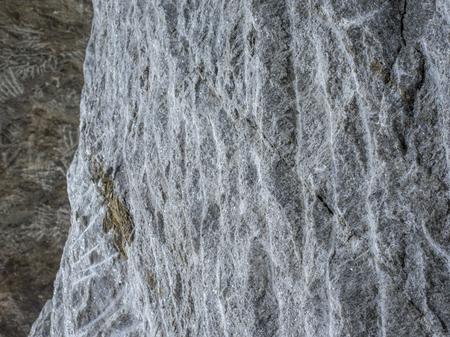 salt wall with exploitation marks in salt mine