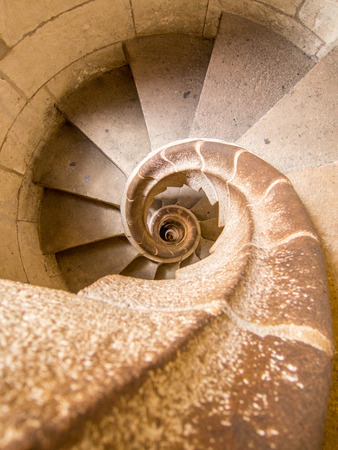 spiral staircase: spiral staircase Stock Photo