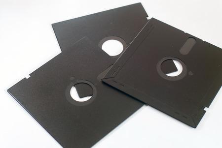 old obsolete 5 inch floppy disk on white