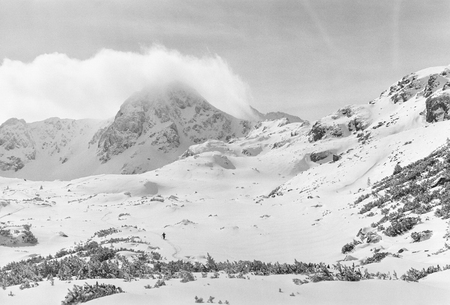 achievment: winter landscape in retezat mountains romania