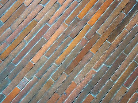 floor made of colored stone tiles