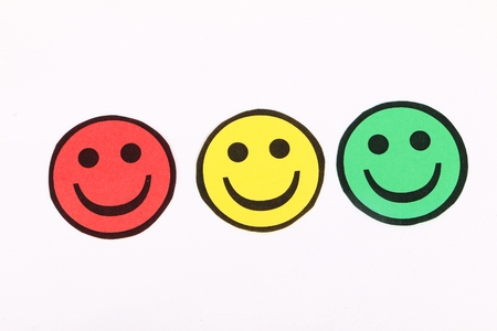 traffic lights colored smileys