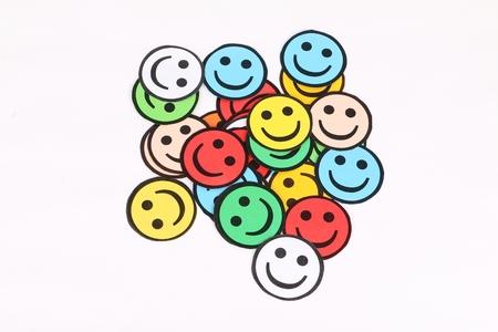 colorful handmade smileys