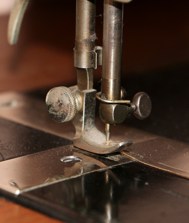 detail from a sewing machine