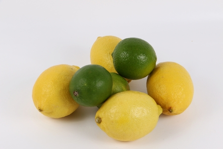 citrons: Citrons and limes lying in the studio Stock Photo