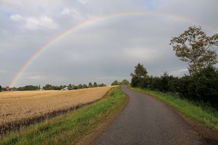 Beautiful colorful rainbow in the nature