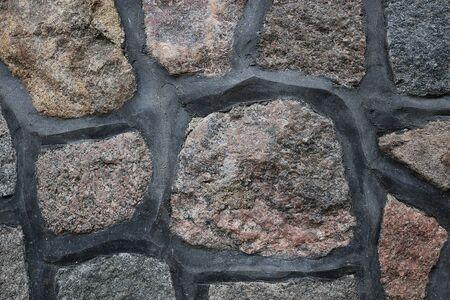 Closeup of a cobblestone stone wall Reklamní fotografie