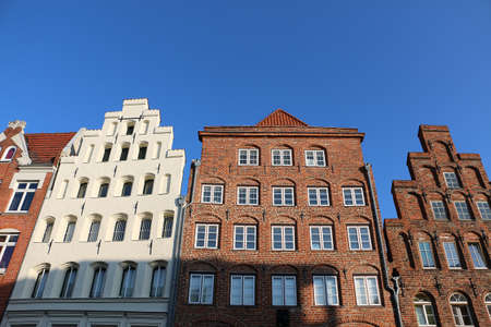 Very pretty old house fronts in a Hanseatic city