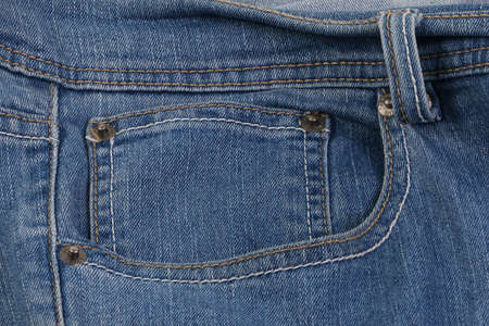 Close-up of a double pocket of a jeans pant Stok Fotoğraf
