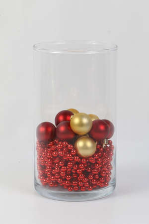 Traditional christmas decoration read in a glass jar