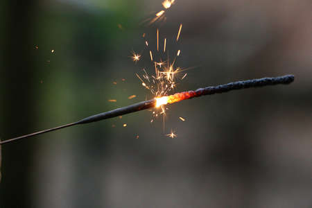 close up of a burning sparkler Stock Photo