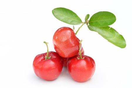 Brazilian Acerola Fruit . small cherry Foto de archivo