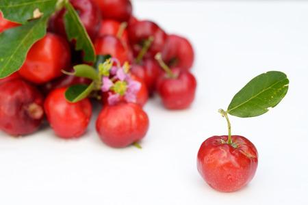Brazilian Acerola Fruit . small cherry Stok Fotoğraf