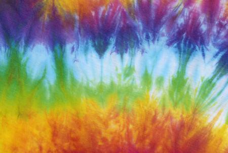 tie dye patroon kant kleurstof op katoenen stof abstracte achtergrond.