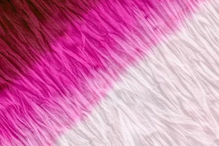 tie dye pattern dip dyed technique on cotton fabric background. Stok Fotoğraf