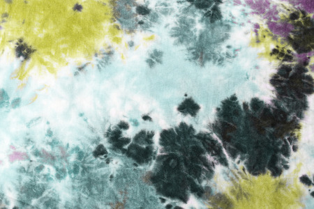 tie dyed pattern on cotton fabric abstract background.