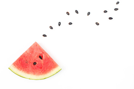 Sliced watermelon on white background. Stock Photo