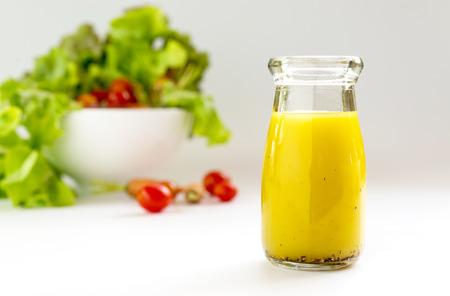 wholegrain mustard: homemade basic salad dressing made with olive oil lemon juice honey salt and black peppers.
