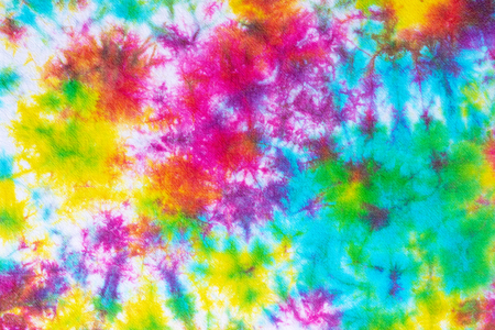 colorful tie dye pattern abstract background. Stock Photo