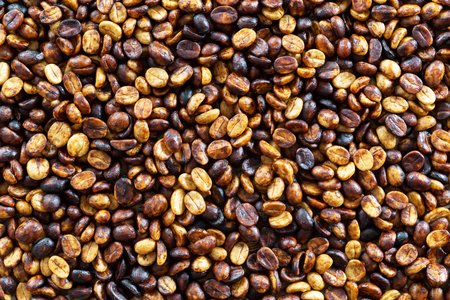 background of parchment coffee black honey processed