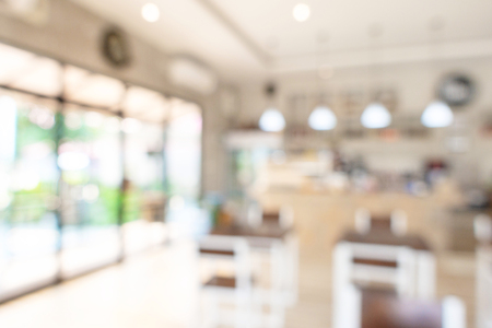 coffee shop blurred background with bokeh