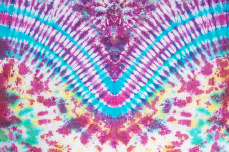 tie dye pattern hand dyed on cotton fabric abstract background.