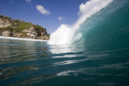 bukit: wave breaking at padang padang beach on the bukit peninsula in Bali, Indonesia 2 Stock Photo