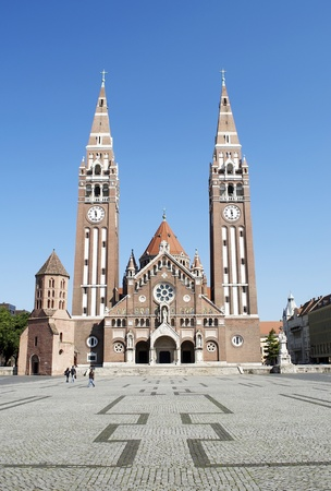 szeged: Cathedral of Szeged,Hungary  Stock Photo