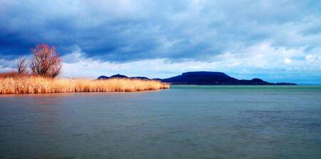 Cloudy day in winter time at Lake Balaton,Hungary Stock Photo - 12007531
