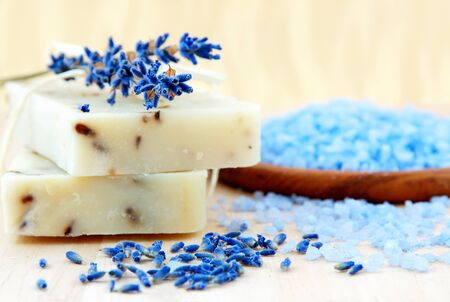 Home-made soap with lavender  photo