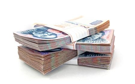 Stack of Hungarian Forint bills