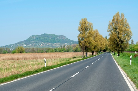 Main road leads near the extinct volcano