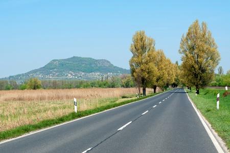 extinct: Main road leads near the extinct volcano