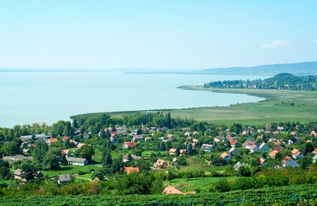Landscape of Lake Balaton,Hungary  Stock Photo