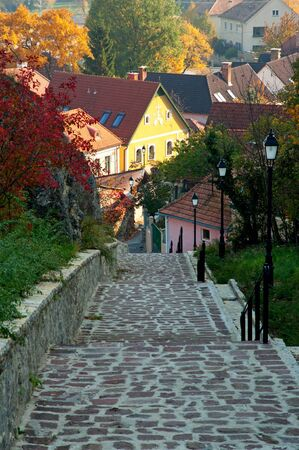 Stone steps in Veszpr�m,Hungary