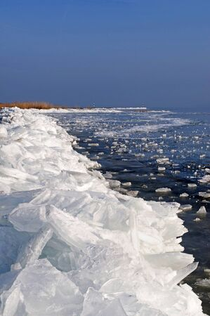 Ice barricade on the frozen Lake Balaton,Hungary  Stock Photo - 12025163